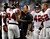 Atlanta Falcons head coach Mike Smith (C ) congratulates wide receiver Roddy White (L ) after his touchdown against the Detroit Lions during the first half of their NFL football game in Detroit, Michigan December 22, 2012. REUTERS/Rebecca Cook