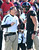 Cincinnati head coach Butch Jones talks with quarterback Brendon Kay (11) in the second half of an NCAA college football game against Rutgers, Saturday, Nov. 17, 2012, in Cincinnati. Rutgers won 10-3. (AP Photo/Al Behrman)
