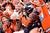 Denver Broncos wide receiver Demaryius Thomas #88 celebrates his touchdown with fans during the third quarter.  The Denver Broncos vs The Tampa Bay Buccaneers at Sports Authority Field Sunday December 2, 2012. John Leyba, The Denver Post