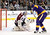 LOS ANGELES, CA - FEBRUARY 23:  Semyon Varlamov #1 of the Colorado Avalanche stops Justin Williams #14 of the Los Angeles Kings during the second period at Staples Center on February 23, 2013 in Los Angeles, California.  (Photo by Harry How/Getty Images)