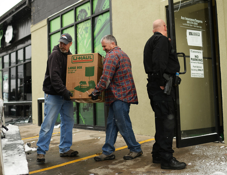 Officers are investigating VIP Cannabis at 2949 West Alameda Avenue in Denver, Colorado November 21, 2013.  (Photo by Hyoung Chang/The Denver Post)