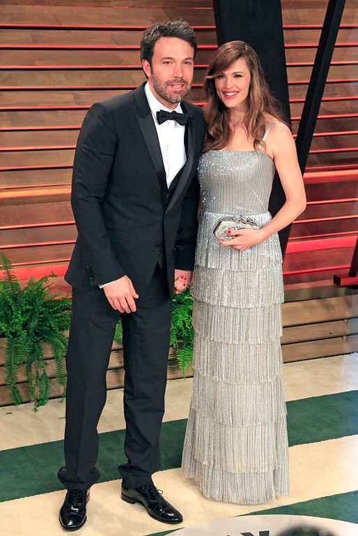 Description of . Ben Affleck and wife Jennifer Garner arrive for the Vanity Fair Oscar After-Party following the 86th annual Academy Awards ceremony in Hollywood, Los Angeles, California, USA, 02 March 2014.  EPA/NINA PROMMER