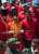 A member of the Presidential Guard of Honor holds a replica of Simon Bolivar's sword while accompanying the hearse carrying the coffin of Venezuelan President Hugo Chavez on its way to the Military Academy, on March 6, 2013, in Caracas. AFP PHOTO/Juan BARRETO/AFP/Getty Images