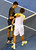 Serbia's Novak Djokovic (L) shakes hands with Spain's David Ferrer after his victory during their men's singles semi-final match on day 11 of the Australian Open tennis tournament in Melbourne on January 24, 2013.  WILLIAM WEST/AFP/Getty Images