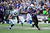 Ray Rice #27 of the Baltimore Ravens runs the ball against Jerrell Freeman #50 of the Indianapolis Colts during the AFC Wild Card Playoff Game at M&T Bank Stadium on January 6, 2013 in Baltimore, Maryland.  (Photo by Patrick Smith/Getty Images)