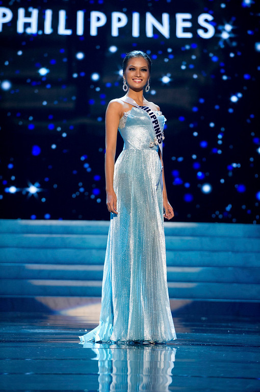 Description of . Miss Philippines 2012 Janine Tugonon competes in an evening gown of her choice during the Evening Gown Competition of the 2012 Miss Universe Presentation Show in Las Vegas, Nevada, December 13, 2012. The Miss Universe 2012 pageant will be held on December 19 at the Planet Hollywood Resort and Casino in Las Vegas. REUTERS/Darren Decker/Miss Universe Organization L.P/Handout