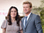 Actress Robin Tunney and actor Simon Baker attend a ceremony honoring Simon Baker with the 2,490th Star on The Hollywood Walk of Fame on February 14, 2013 in Hollywood, California.  (Photo by Alberto E. Rodriguez/Getty Images)