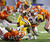 LSU running back Michael Ford (42) works against Clemson during the first half of the Chick-fil-A Bowl NCAA college football game, Monday, Dec. 31, 2012, in Atlanta. (AP Photo/John Bazemore)