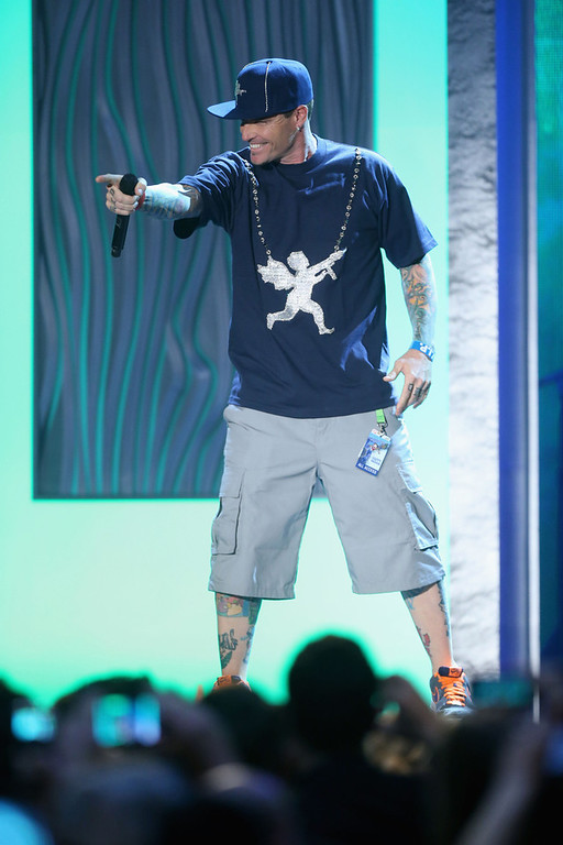 Description of . Rapper Vanilla Ice performs onstage at the 3rd Annual Streamy Awards at Hollywood Palladium on February 17, 2013 in Hollywood, California.  (Photo by Frederick M. Brown/Getty Images)