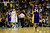 Los Angeles Lakers shooting guard Kobe Bryant (24) reacts to a foul call on Los Angeles Lakers shooting guard Jodie Meeks (20) during the second half of the Nuggets' 126-114 win at the Pepsi Center on Wednesday, December 26, 2012. AAron Ontiveroz, The Denver Post