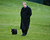 President Bush walks with his dog Barney after returning from spending the Easter holiday at his Texas ranch on the South Lawn of the White House Monday, April 12, 2004 in Washington. Bush met with Egypt's President Hosni Mubarak earlier in the day. (AP Photo/Charles Dharapak)