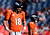 Denver Broncos quarterback Peyton Manning #18 warms up prior to the game.  The Denver Broncos vs The Tampa Bay Buccaneers at Sports Authority Field Sunday December 2, 2012. AAron  Ontiveroz, The Denver Post
