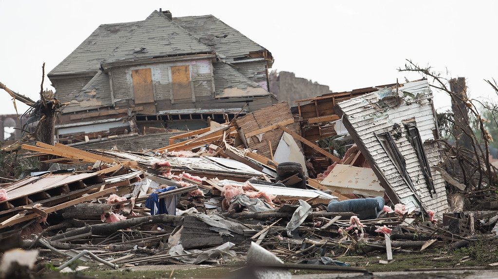 . A house is destroyed after a tornado touched down in the area on Monday, June 16, 2014 in Pilger, Neb. The National Weather Service says the storm that struck northeast Nebraska appears to have produced four tornadoes, one of which ravaged the town of Pilger.   (AP Photo/The World-Herald, Ryan Soderlin)