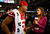 Clark Haggans #51 of the San Francisco 49ers is interviewed by Katherine Webb of 'Inside Edition' during Super Bowl XLVII Media Day ahead of Super Bowl XLVII at the Mercedes-Benz Superdome on January 29, 2013 in New Orleans, Louisiana. The San Francisco 49ers will take on the Baltimore Ravens on February 3, 2013 at the Mercedes-Benz Superdome.  (Photo by Scott Halleran/Getty Images)