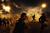 Egyptian protesters run for cover from tear gas fired by riot police during clashes in Cairo, on March 8, 2013. Egyptian Interior Minister Mohamed Ibrahim sacked the riot police chief amid strikes by policemen who complained they are ill-equipped to confront protesters, state media reported. AFP PHOTO/MAHMUD  KHALED/AFP/Getty Images