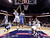 Charlotte Bobcats' Ramon Sessions (7) has his shot blocked by Denver Nuggets' Andre Miller (24) during the second half of an NBA basketball game in Charlotte, N.C., Saturday, Feb. 23, 2013. The Nuggets won 113-99. (AP Photo/Bob Leverone)