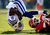 Wide receiver Donnie Avery #11 of the Indianapolis Colts rolls over while trying to catch a pass as cornerback Brandon Flowers #24 of the Kansas City Chiefs defends during the game at Arrowhead Stadium on December 23, 2012 in Kansas City, Missouri.  (Photo by Jamie Squire/Getty Images)