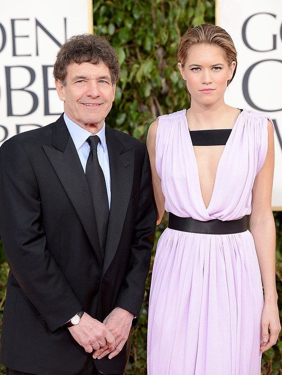Description of . Chairman, Walt Disney Studios, Alan Horn (L) and daughter Cody Horn arrive at the 70th Annual Golden Globe Awards held at The Beverly Hilton Hotel on January 13, 2013 in Beverly Hills, California.  (Photo by Jason Merritt/Getty Images)