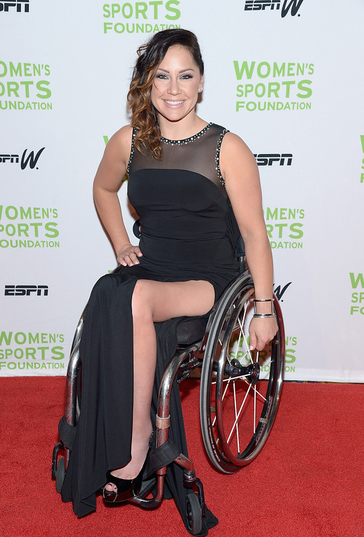 Description of . NEW YORK, NY - OCTOBER 16:  Paralympic basketball player Alana Nichols attends the 34th annual Salute to Women In Sports Awards at Cipriani, Wall Street on October 16, 2013 in New York City.  (Photo by Michael Loccisano/Getty Images for the Women's Sports Foundation)