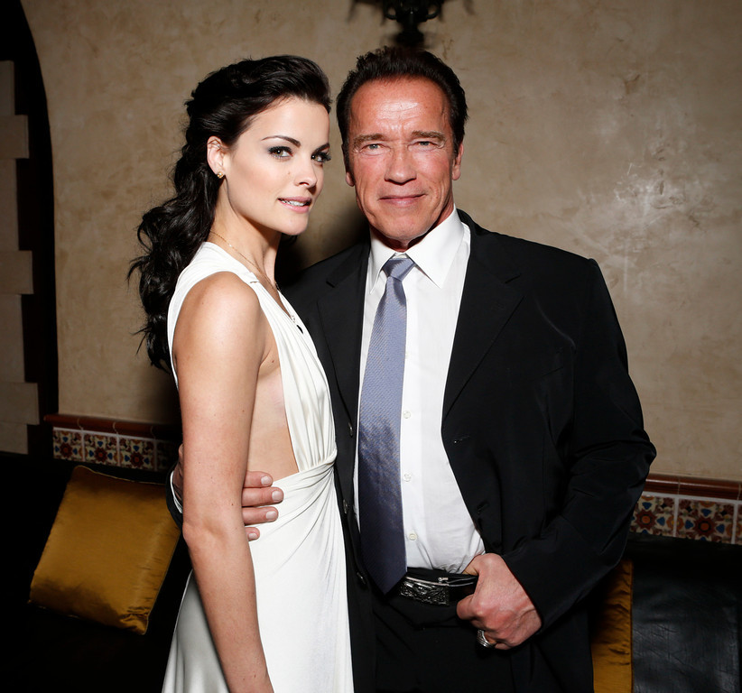 Description of . Jaimie Alexander and Arnold Schwarzenegger attend the after party for the LA premiere of