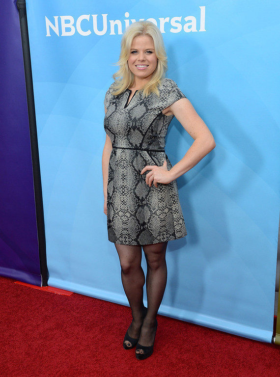 "Description of . Megan Hilty attends NBCUniversal\'s ""2013 Winter TCA Tour\"" Day 1 at Langham Hotel on January 6, 2013 in Pasadena, California.  (Photo by Jason Kempin/Getty Images)"