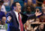 Arizona coach Sean Miller gestures during the second half against Colorado of a Pac-12 men's tournament NCAA college basketball game, Thursday, March 14, 2013, in Las Vegas. Arizona won 79-69. (AP Photo/Julie Jacobson)