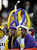LSU fans wait for the Chick-fil-A Bowl NCAA college football game between Clemson and LSU, Monday, Dec. 31, 2012, in Atlanta. (AP Photo/Mike Stewart)
