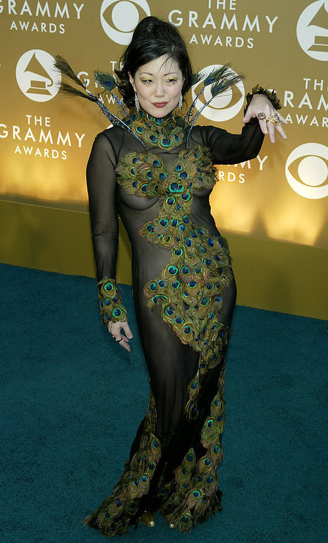 Description of . Comedian Margaret Cho arrives at the 46th Annual Grammy Awards held at the Staples Center on February 8, 2004 in Los Angeles, California.  (Photo by  Kevin Winter/Getty Images)