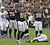 Owen Daniels #81 of the Houston Texans signals first down after a completion against the Indianapolis Colts in the first half at Reliant Stadium on December 16, 2012 in Houston, Texas.  (Photo by Bob Levey/Getty Images)