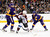 LOS ANGELES, CA - FEBRUARY 23:  Gabriel Landeskog #92 of the Colorado Avalanche controls a rebound away from Trevor Lewis #22 and Mike Richards #10 of the Los Angeles Kings during the second period at Staples Center on February 23, 2013 in Los Angeles, California.  (Photo by Harry How/Getty Images)