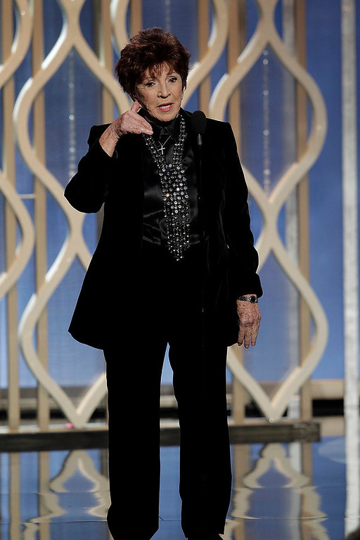 Description of . Dr. Aida Takia-O'Reilly on stage at the 70th annual Golden Globe Awards in Beverly Hills, California January 13, 2013, in this picture provided by NBC. REUTERS/Paul Drinkwater/NBC/Handout