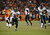 Baltimore Ravens running back Ray Rice (27) busts through the line and makes a run in the third quarter. The Denver Broncos vs Baltimore Ravens AFC Divisional playoff game at Sports Authority Field Saturday January 12, 2013. (Photo by Joe Amon,/The Denver Post)
