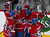 Montreal Canadiens Travis Moen (32) celebrates his goal on New York goalie Evgeni Nabokov (not shown) with teammates Francis Bouillon (55), P.K. Subban (76) and Colby Armstrong (20) during the first period of NHL hockey action in Montreal, February 21, 2013.  REUTERS/Christinne Muschi