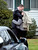 Mourners embrace before entering the Honan Funeral Home in Newtown on 12/17/2012 for funeral services for six-year-old Jack Pinto, a victim of the Sandy Hook Elementary School shootings.