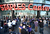 LOS ANGELES, CA - JANUARY 19:  Fans wait to enter the arena for the NHL season opening game between the Chicago Blackhawks and the Los Angeles Kings at Staples Center on January 19, 2013 in Los Angeles, California.  (Photo by Harry How/Getty Images)
