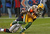 Randall Cobb #18 of the Green Bay Packers is tackled by D.J. Moore #30 of the Chicago Bears after catching a pass for a first down at Soldier Field on December 16, 2012 in Chicago, Illinois. (Photo by Jonathan Daniel/Getty Images)