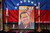 An image of Venezuela's late President Hugo Chavez sits on display at a chapel inside Congress in La Paz, Bolivia, Wednesday, March 6, 2013.  (AP Photo/Juan Karita)
