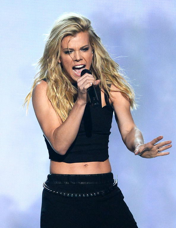 Description of . Singer Kimberly Perry of The Band Perry performs onstage during the 49th Annual Academy Of Country Music Awards at the MGM Grand Garden Arena on April 6, 2014 in Las Vegas, Nevada.  (Photo by Ethan Miller/Getty Images)