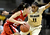 Colorado's Brittany Wilson (right) guards Utah's Danielle Rodriguez (left) during their basketball game at the University of Colorado in Boulder , Colorado January 8, 2013. BOULDER DAILY CAMERA/ Mark Leffingwell