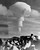 Russia continued testing of giant nuclear explosions in the atmosphere so the United States resumed its own tests.  The now familiar atomic explosion mushroom rose over Christmas Island in the Equatorial Pacific during U.S. experiments.  This bomb was exploded from a plane.  (AP Photo/Oakland Tribune)