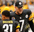 Pittsburgh Steelers quarterback Ben Roethlisberger (7) greets corner back Curtis Brown (31) before the start of their NFL football game against the San Diego Chargers in Pittsburgh, Pennsylvania, December 9, 2012. The game marks Roethlisberger's return following an injury.  REUTERS/Jason Cohn