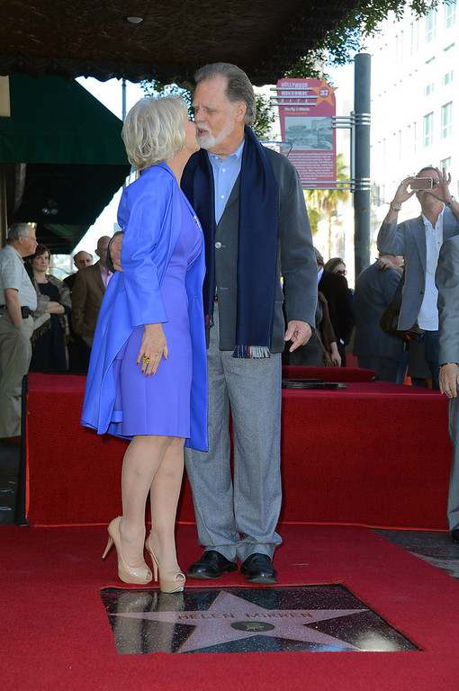 Description of . Actress   Helen Mirren, with her husband director Taylor Hackford,  was Honored On The Hollywood Walk Of Fame with her own star on January 3, 2013 in Hollywood, California.  (Photo by Frazer Harrison/Getty Images)