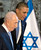 President Barack Obama and Israeli President Shimon Peres leave the stage after President Obama signed a guest book, Wednesday, March 20, 2013, at Israeli President Shimon Peres residence in Jerusalem. (AP Photo/Carolyn Kaster)