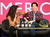 Actors Tatiana Maslany (L) and Jordan Gavaris speak onstage at the