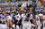 Denver Broncos running back Jacob Hester #40 is lifted by Denver Broncos tackle Orlando Franklin #74 after he scored the first touchdown of the game at the M&T Bank Stadium, in Baltimore, MD Sunday December 16, 2012.      Joe Amon, The Denver Post