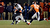 Denver Broncos outside linebacker Von Miller (58) wraps up Baltimore Ravens quarterback Joe Flacco (5) during the second half.  The Denver Broncos vs Baltimore Ravens AFC Divisional playoff game at Sports Authority Field Saturday January 12, 2013. (Photo by John Leyba,/The Denver Post)