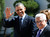 U.S. President Barack Obama (L) and Palestinian President Mahmoud Abbas participate in an arrival ceremony at the Muqata Presidential Compound in the West Bank City of Ramallah March 21, 2013.     REUTERS/Larry Downing