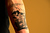ASPEN, CO. - JANUARY 23: Skier Bobby Brown's new tattoo paying homage to his hometown, Denver, and the mountains nearby during an interview. X Games 17 Sky Hotel Aspen January 23, 2013