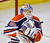 Edmonton Oilers goalie Devan Dubnyk makes a save against the Colorado Avalanche during the second period of their NHL hockey game in Edmonton January 28, 2013.  REUTERS/Dan Riedlhuber