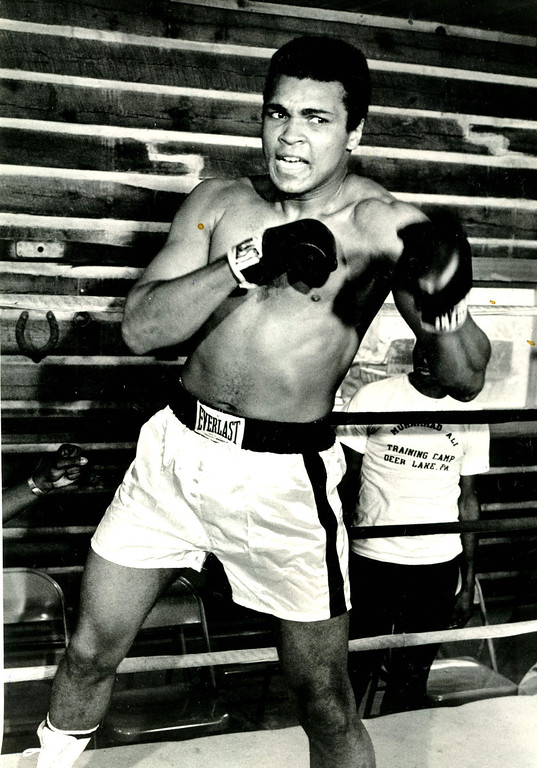 Description of . MUHAMMAD ALI, 1974. Denver Post Library photo archive